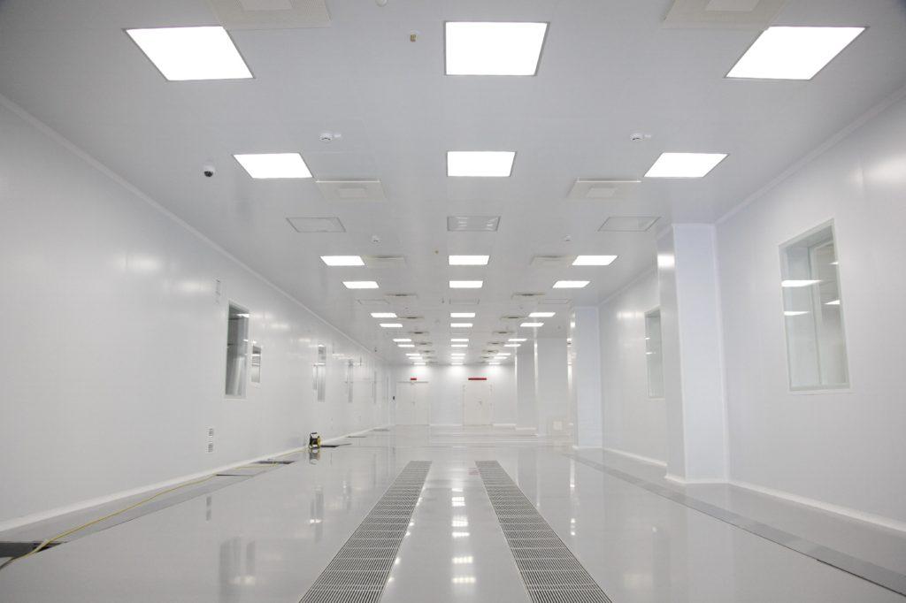 Пример, возведенного чистого помещения