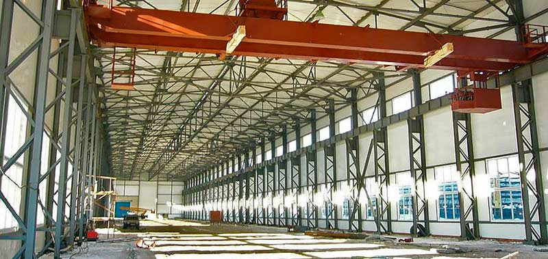 Пример строительства промышленного здания