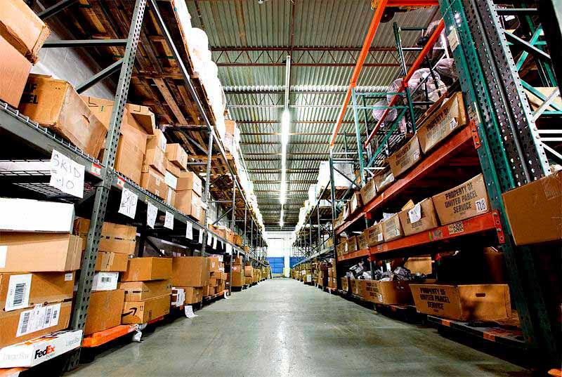 Пример рабочего складского помещения