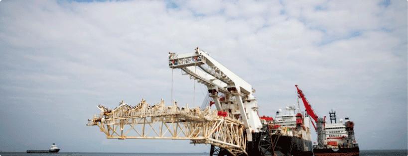 Трубоукладочное судно Solitaire готовится к началу работ по прокладке «Северного потока-2» в Балтийском море