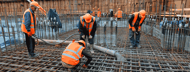 Пример фундаментных работ в Санкт-Петербурге